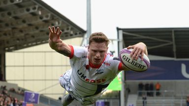 Chris Ashton scored a hat-trick against Connacht on his Sale Sharks debut