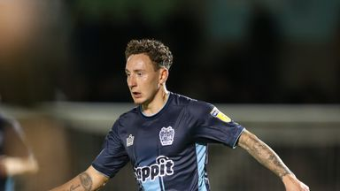 Callum McFadzean saw red for Bury in the first half of Leicester win
