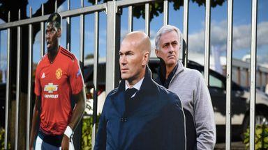 fifa live scores - 'Zinedine Zidane' pops-up in Manchester before United match