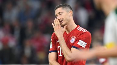 Robert Lewandowski shows his dejection as Bayern Munich fall to a shock defeat