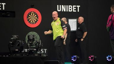 Michael van Gerwen will bid to win a fifth straight European Championship title