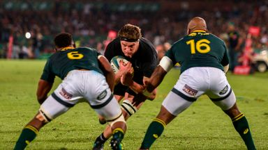 Scott Barrett was one of the All Blacks who stepped up against South Africa
