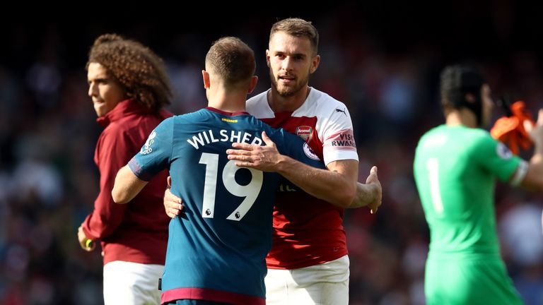 West Ham's Jack Wilshere says Aaron Ramsey would get into any Premier League side