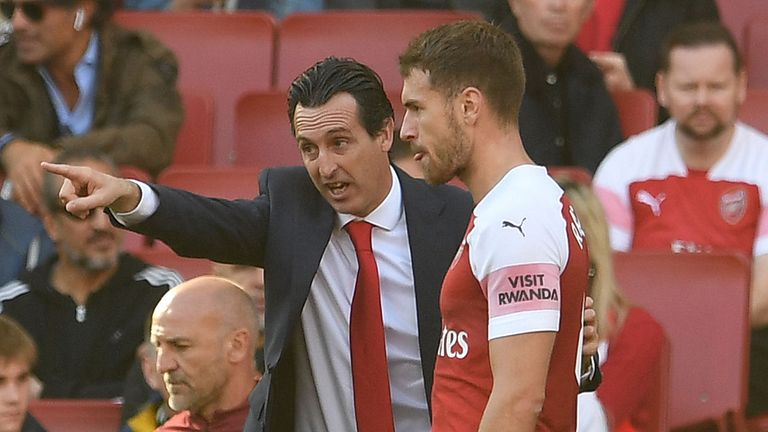 Ramsey has struggled to hold down a regular starting berth under Unai Emery