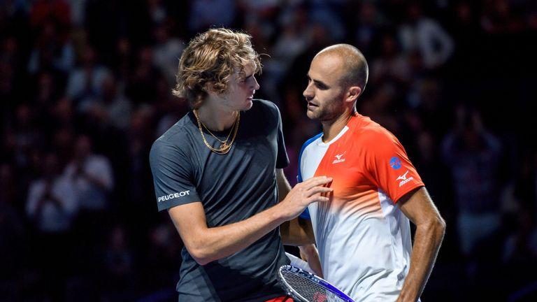Alexander Zverev was shocked by Marius Copil