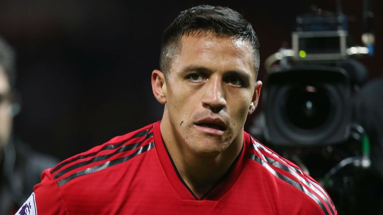 Manchester United's Alexis Sanchez comes on as substitute against Newcastle United