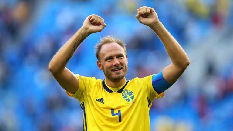 Andreas Granqvist captained Sweden to the World Cup quarter-finals