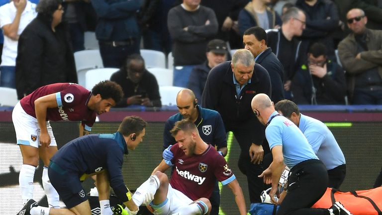 Andriy Yarmolenko: West Ham winger suffers Achilles tear in Tottenham defeat