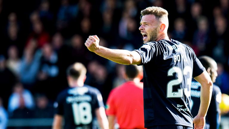 Andy Boyle scored his first goal last weekend as Dundee got their first points of the season in victory over Hamilton