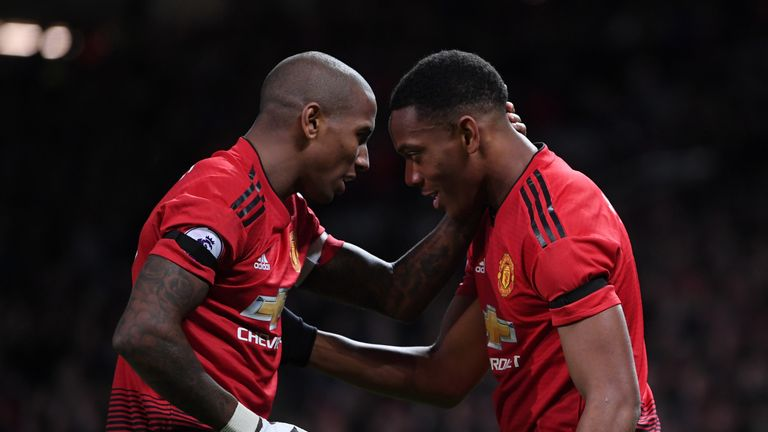 Anthony Martial has scored four goals in his last three Premier League games