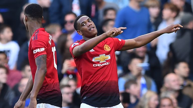 Anthony Martial has scored three goals in his last two league appearances