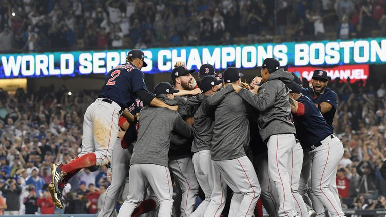 Red Sox celebrate World Series win