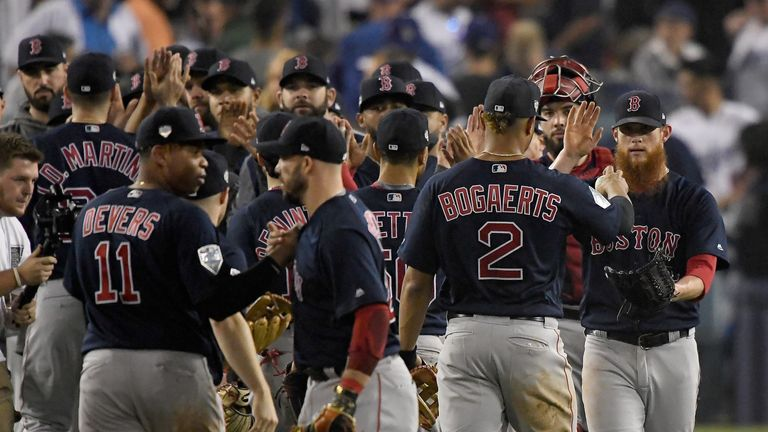 The Boston Red Sox are now a win away from a ninth World Series