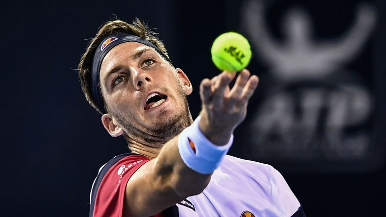 Cameron Norrie will face second-seed Diego Schwartzman in the last 16 of the European Open