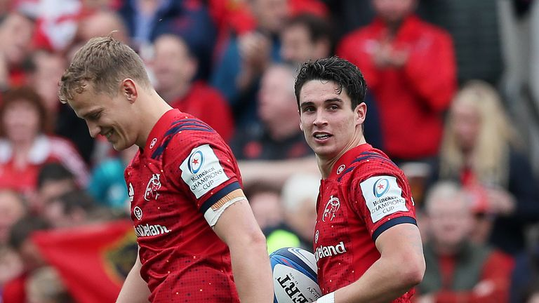 Joey Carbery put in an eye-catching display in the 10 jersey for Munster