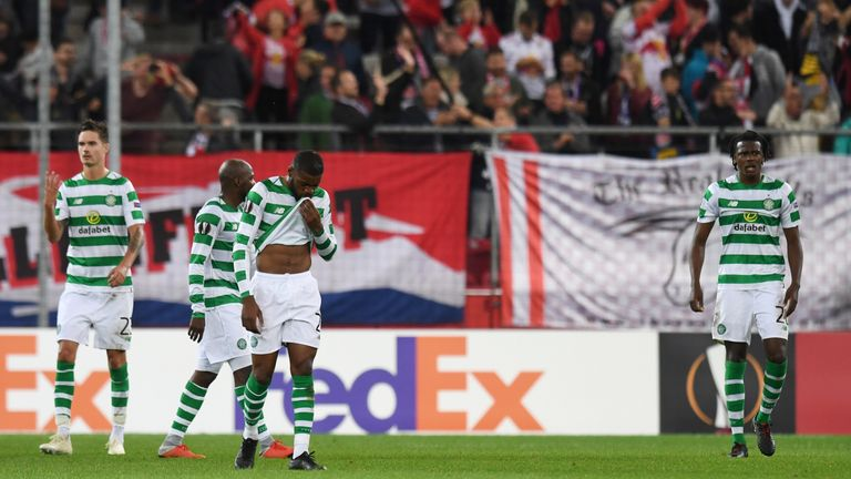 Celtic were beaten by RB Salzburg in the Europa League on Thursday