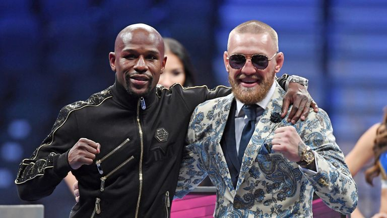 Mayweather's last fight was a lucrative bout against MMA star McGregor in August 2017
