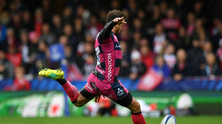 Danny Cipriani finished his afternoon's work with a 14-point haul for the home side at Kingsholm