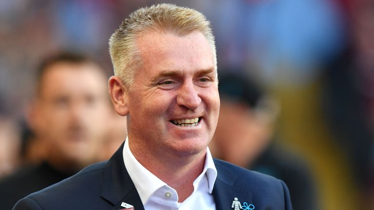 Dean Smith was in charge of Brentford before joining Aston Villa