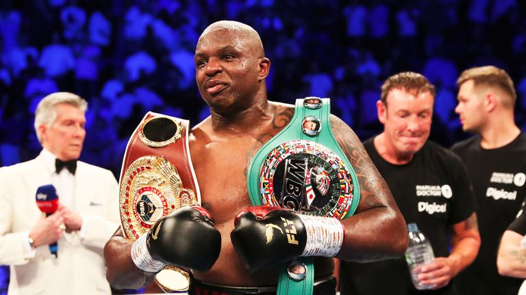 Dillian Whyte responded to recent comments from WBC champion Deontay Wilder