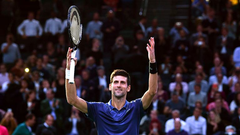 Novak Djokovic assisted an unwell spectator during his victory