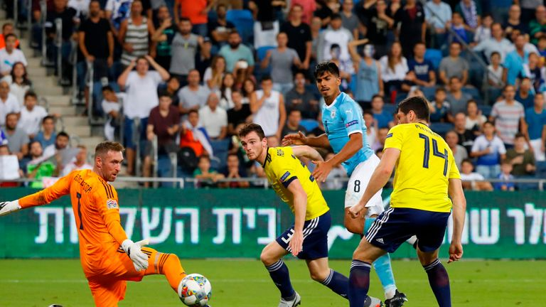 Dor Peretz draws Israel level with a well-taken strike