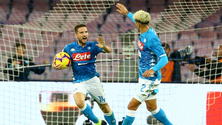 Dries Mertens scored a late equaliser for Napoli
