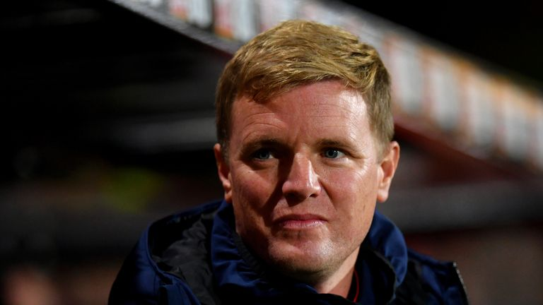 Eddie Howe  Bournemouth's Carabao Cup tie with Norwich