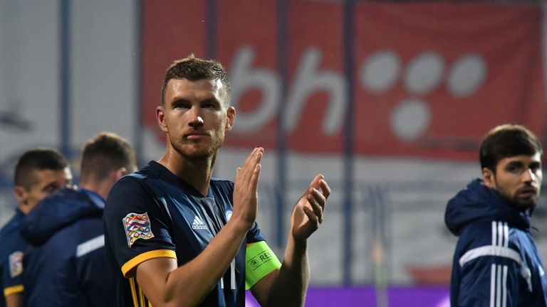 Edin Dzeko led Bosnia to victory over Northern Ireland on Monday
