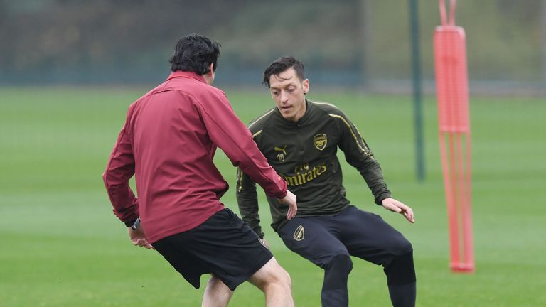 Mesut Ozil has returned to full training with Arsenal