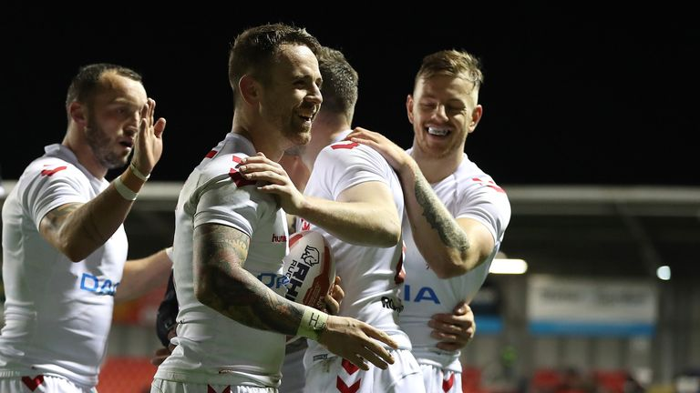 England had a comfortable 44-6 win over France in a warm-up game for the Test Series
