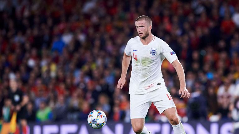 Eric Dier in action for England
