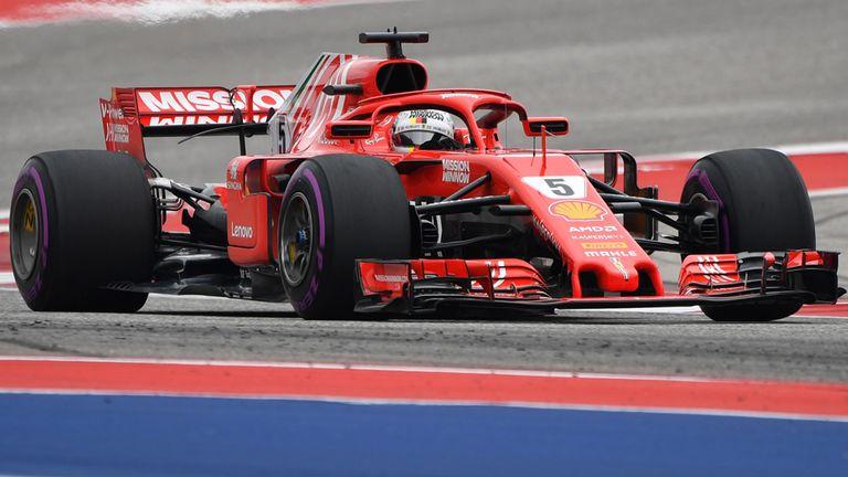 US GP, Practice Three: Sebastian Vettel and Ferrari bounce ...