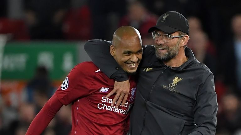 Jurgen Klopp was thrilled with Fabinho's performance against Brighton