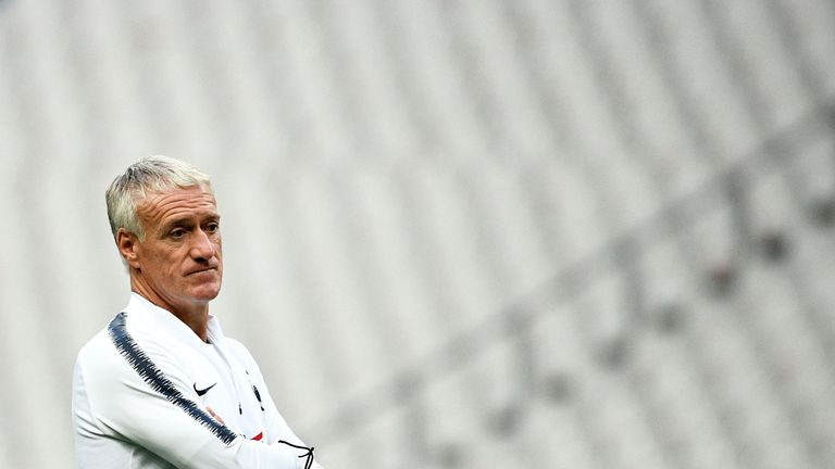 Didier Deschamps has denied reports of a rivalry between the pair