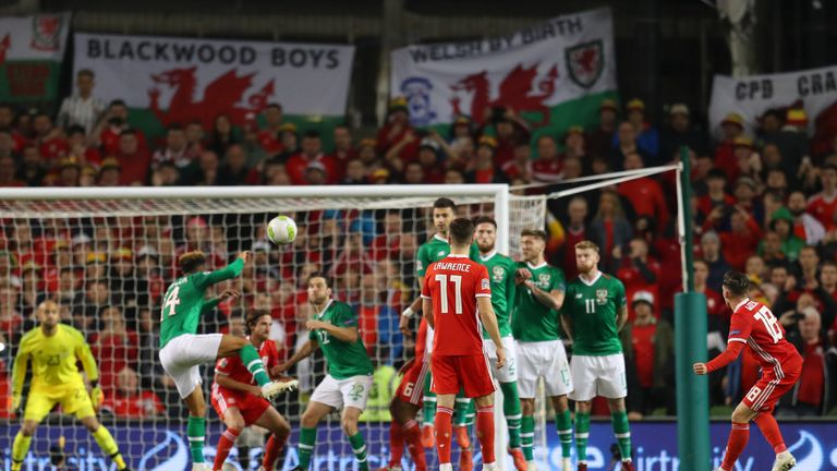 Harry Wilson's free-kick condemned Ireland to defeat in Dublin on Tuesday