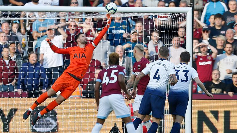 Hugo Lloris made a string of fine saves in the second half