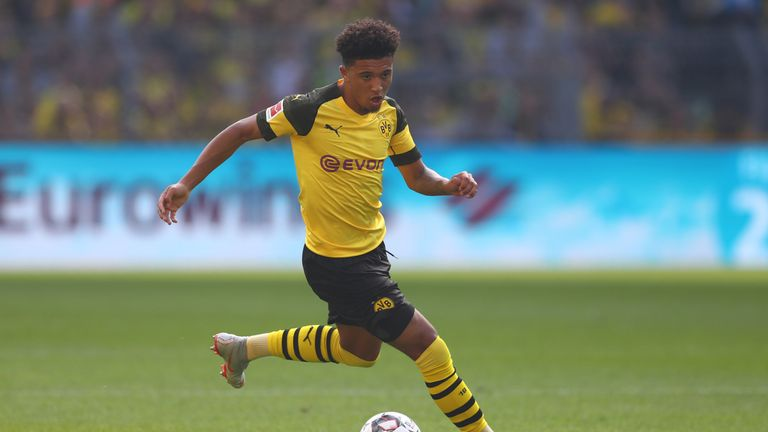 Manchester City have a buy-back option on Jadon Sancho