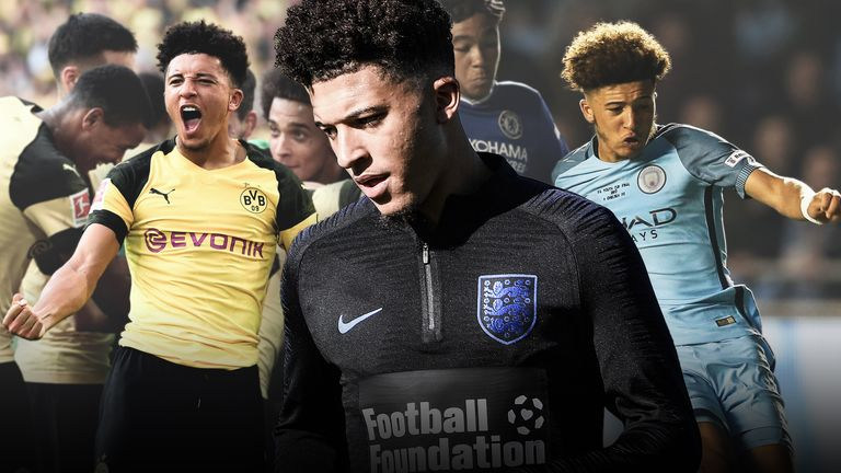 Jadon Sancho made his England debut against Croatia