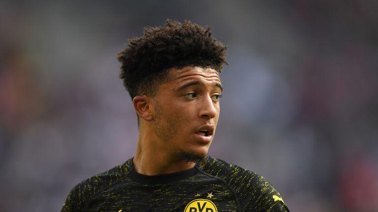 Borussia Dortmund winger Jadon Sancho has five goals in 13 appearances this season