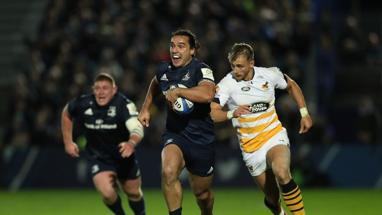 James Lowe breaks for Leinster