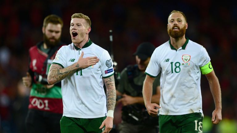 James McClean is happy to see Arter back in the Ireland fold