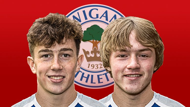 Wigan Athletic's Jensen Weir and Joe Gelhardt are in the England U17 squad