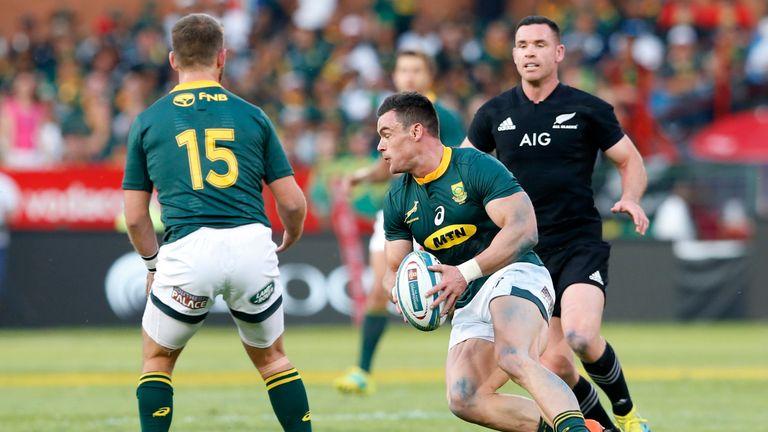 Jesse Kriel on the attack for the Springboks