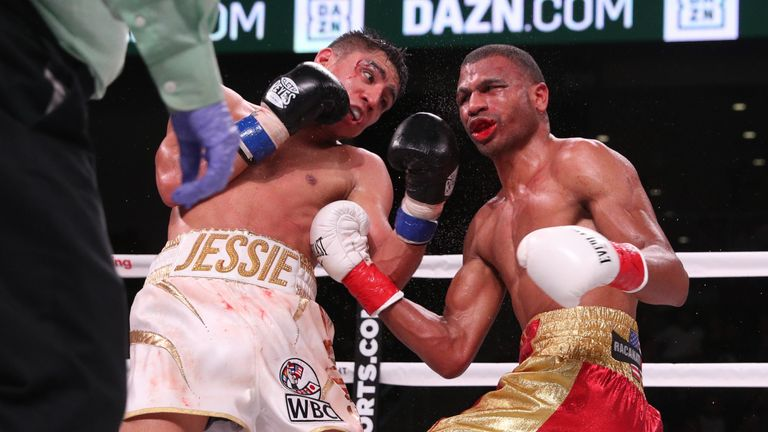 Both fighters hit the canvas in the closing rounds