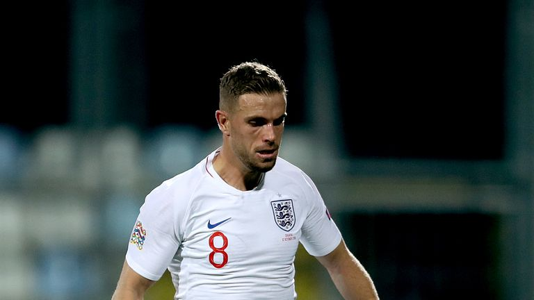 Jordan Henderson played in England's 0-0 draw against Croatia but misses the Spain game through suspension