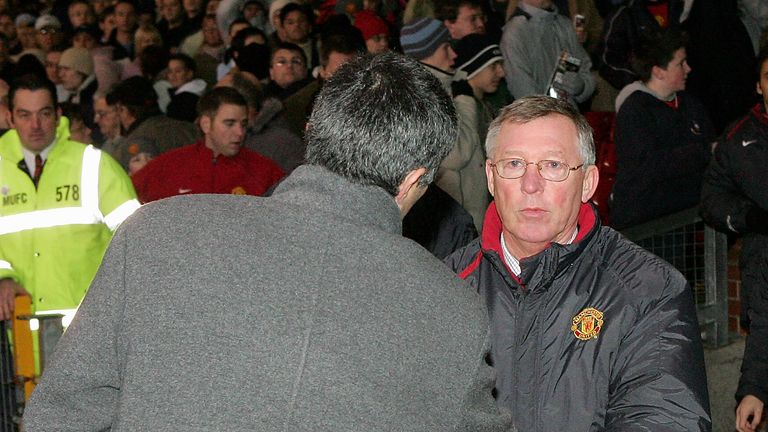 United boss Alex Ferguson and Mourinho initially had a frosty relationship
