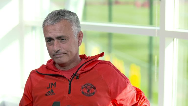 Jose Mourinho, Manchester United, Geoff Shreeves interview for Sky Sports