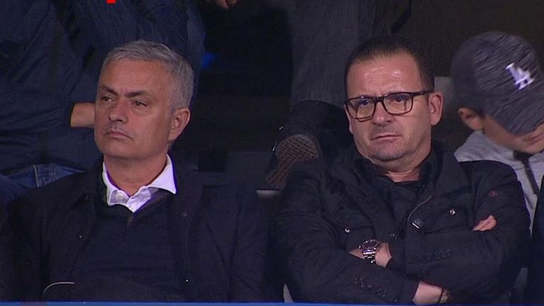 Jose Mourinho was at Serbia's win over Montenegro
