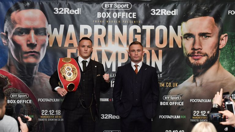 Warrington and Frampton meet in Manchester on December 22